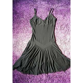 Black Mesh Flare Dress