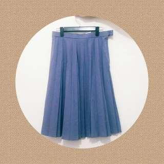日製古著 瑀紫色百褶裙