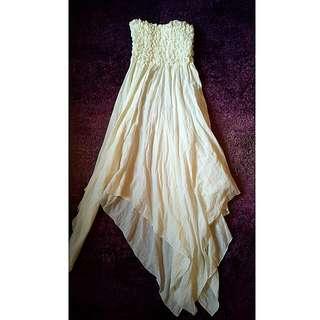 Ruffled Tube Dress
