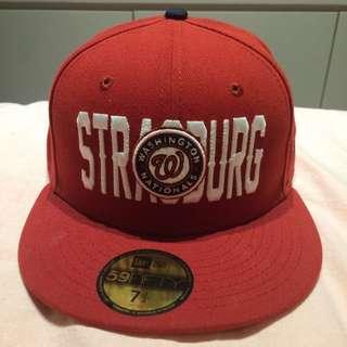 全新 New Era 棒球帽 全封 紅