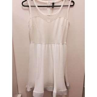 二手近全新白色透紗洋裝