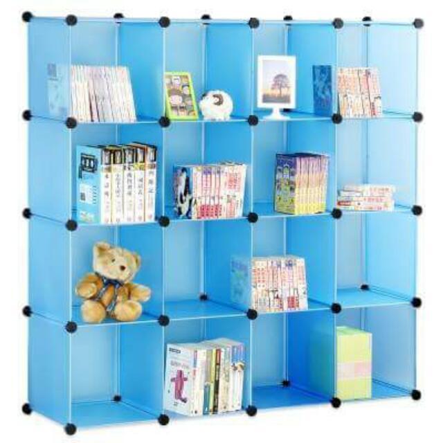 16格收納櫃(賣圖1全藍款)#已預定#