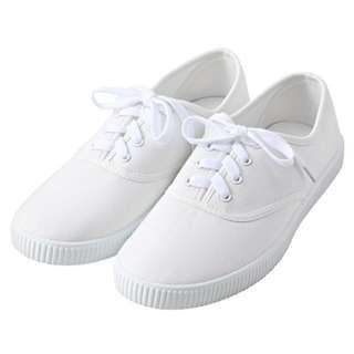 Muji無印良品白色帆布鞋