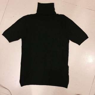 全新SO NICE短袖高領針織衣