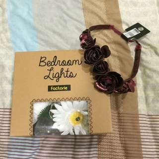 Factorie Daisy Fairy Lights & Flower Crown Set