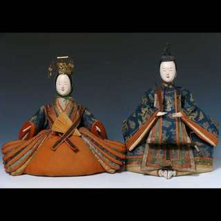 Rare Japanese Dairibina Pair Of Kyohobina Circa 1800
