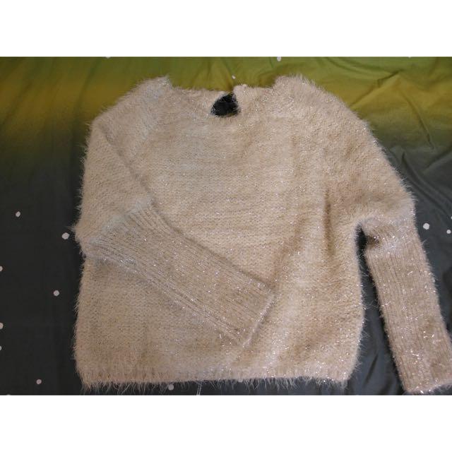 韓版金絲毛衣