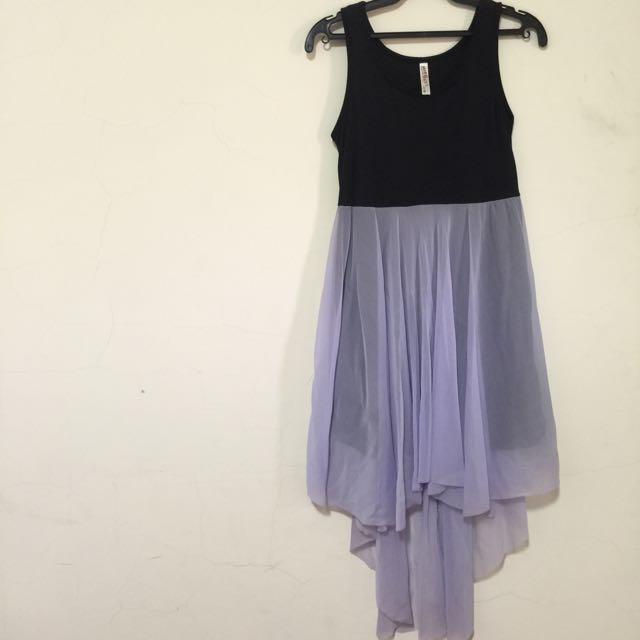 拼接紗質長裙