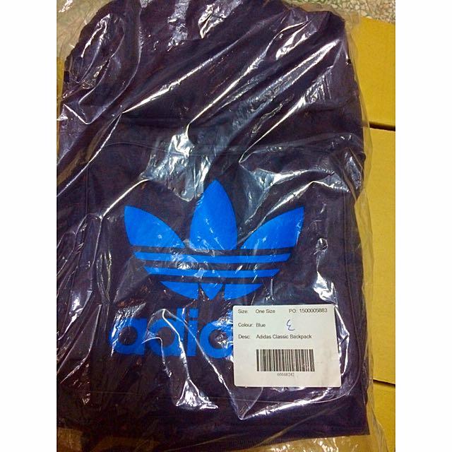 Adidas Backpack 三葉草後背包 深藍-黑