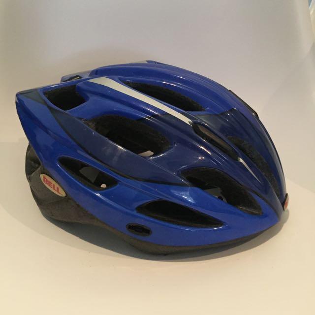 Bell Aquila Cycling Helmet (Blue/Black) -- Adult Size