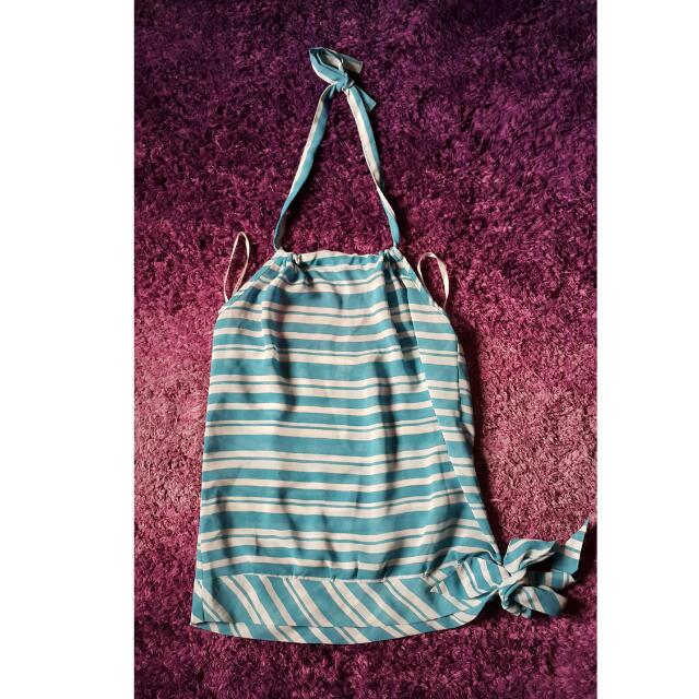 Blue Striped Halter
