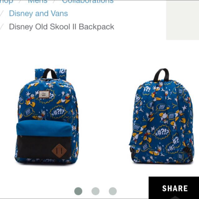Disney Old Skool II Backpack (Donald Duck) - Vans X Disney ... 6640a3b2612f3