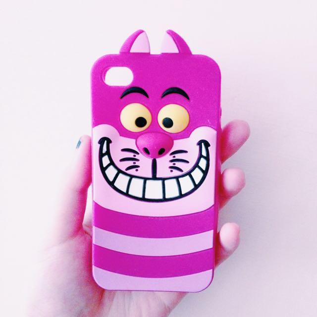 iPhone 4S笑笑貓矽膠軟殼