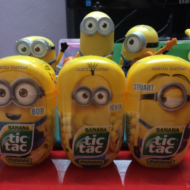 minions tic tac limited edition toys on carousell