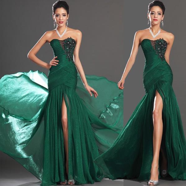 98577fc3be Pre Order Dark green flower floor sleeveless bustier plain long ...