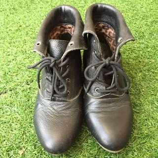 反折平底短靴