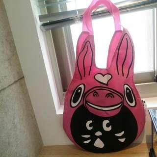 RODY  頭型 粉紅購物袋