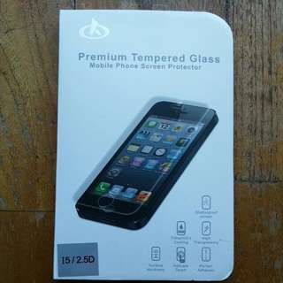 Brand New Iphone 5/5s Tempered Glass
