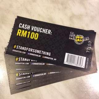 Dr Martens Rm 100 Cash Voucher