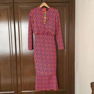 Rizalman For Zalora 2013 Kurung Dress In Orange