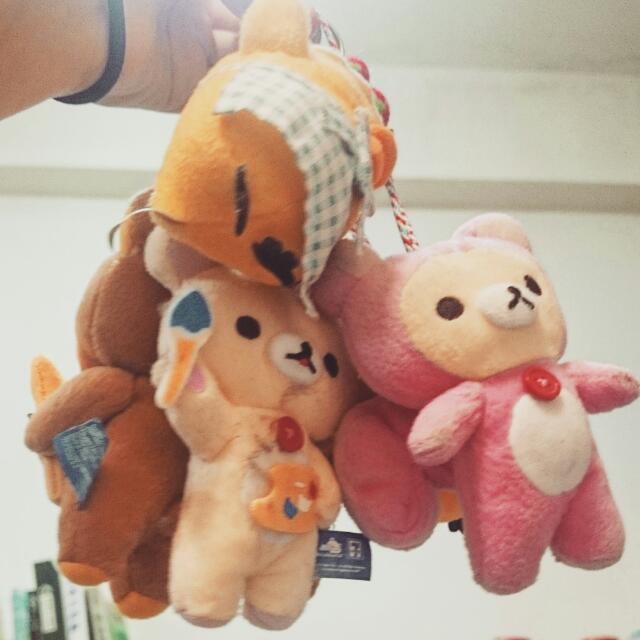 拉拉熊娃娃吊飾(六款)