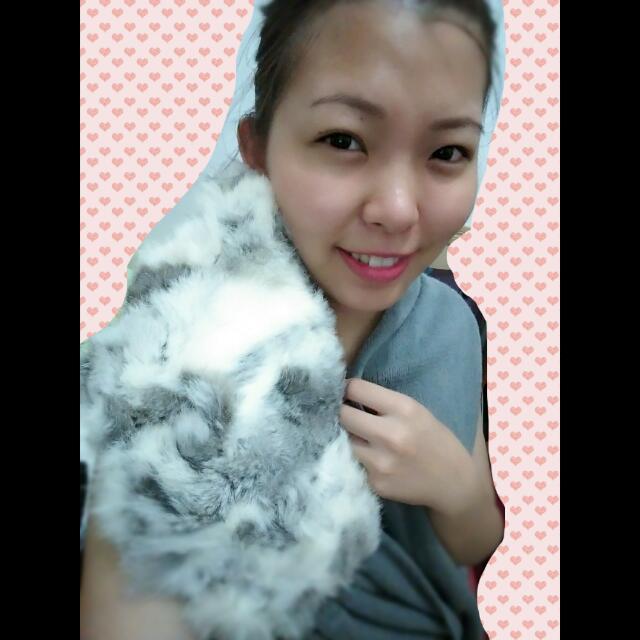 👑正韓純兔毛圍巾🐰
