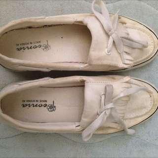 流蘇小白鞋 24.5 韓國製