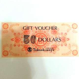 Takashimaya Gift Voucher $50