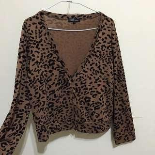 Net豹紋棉質外套