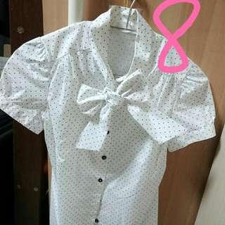 蝴蝶結短襯衫