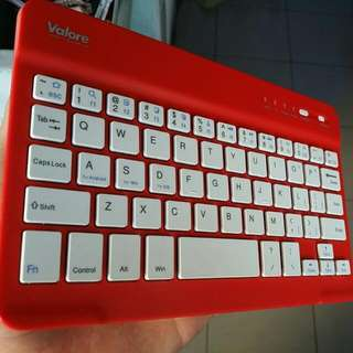 Red Bluetooth Keyboard(Android/Windows/IOS compatible)