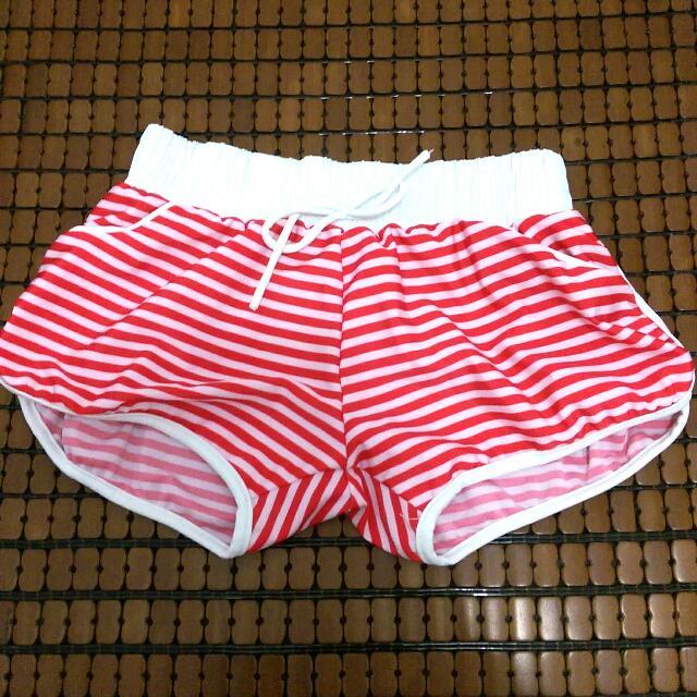 運動風🏊條紋口袋泳褲
