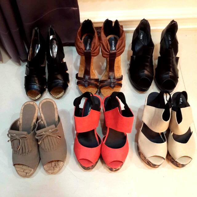 絕版高跟鞋,楔形鞋