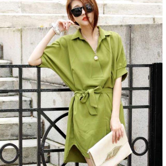 連身裙 綠色