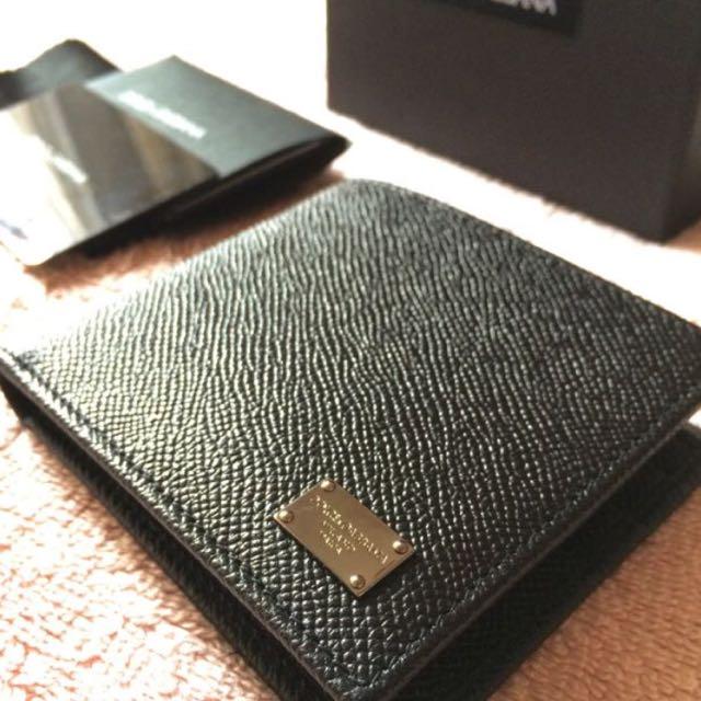 3a4cd46676ef Dolce & Gabbana D&G Men's Bifold Wallet In Black Calfskin, Luxury on ...