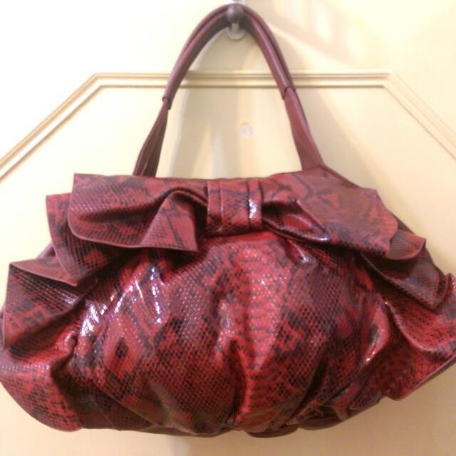 ⬇女用手提包/Pixy甜蜜紅立體手提包