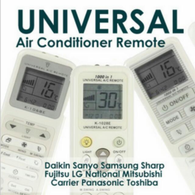 Universal Aircon Remote Controller, Home Appliances, Cooling