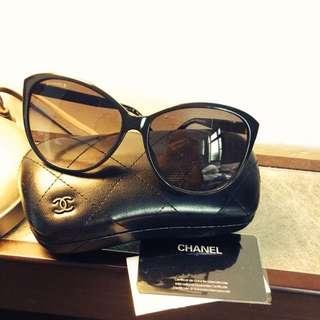 Chanel 皮革太陽眼鏡(墨鏡) 全新 正品