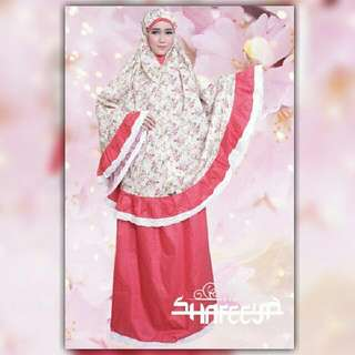 Shafeeya Mukena Eksklusif Kanaya - Red