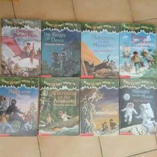 含運(包書皮)童書 Magic Tree House 1-8 整組賣 二手書