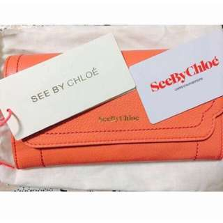 [Reserved] Brand New See by Chloe Berty Long Flap Wallet