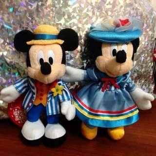 迪士尼 米奇 米妮 13週年紀念 娃娃 吊飾
