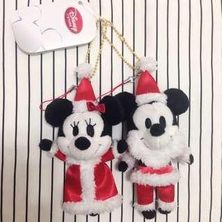 迪士尼 米奇 米妮 聖誕節 娃娃 吊飾🎄