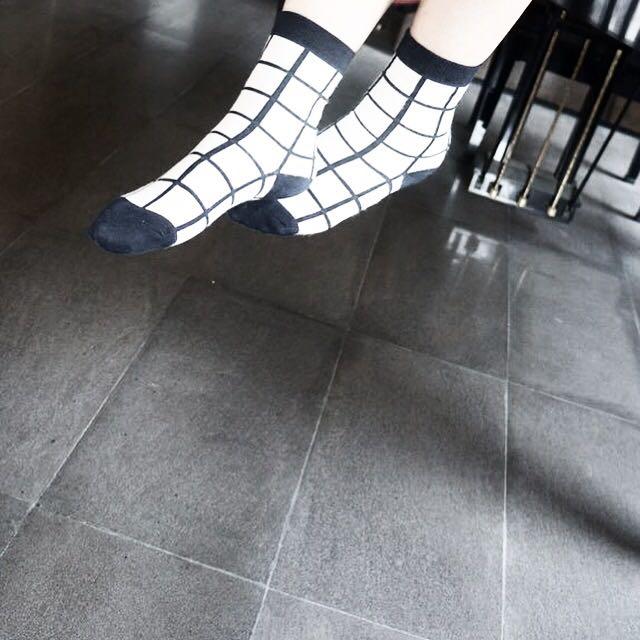 格子襪子 可議價