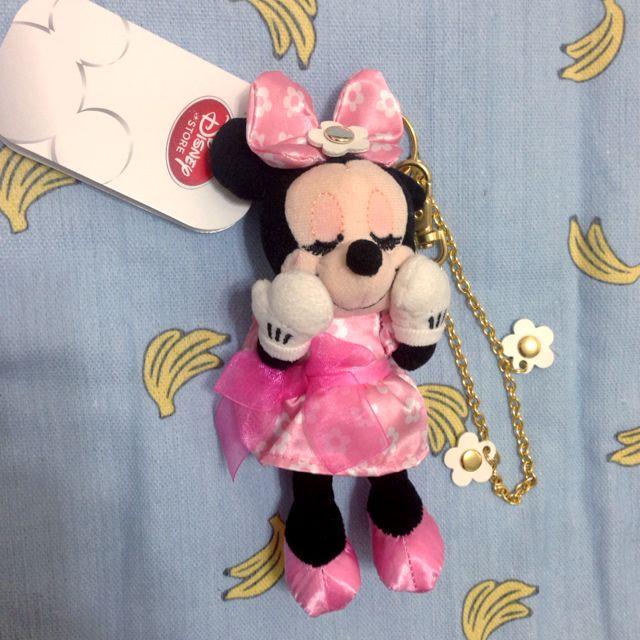 迪士尼 米妮 花朵 娃娃 吊飾🌸