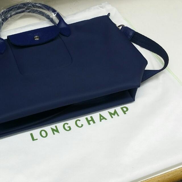 正品保證 LONGCHAMP NEO 深藍色 M號 有附背帶(共11色)