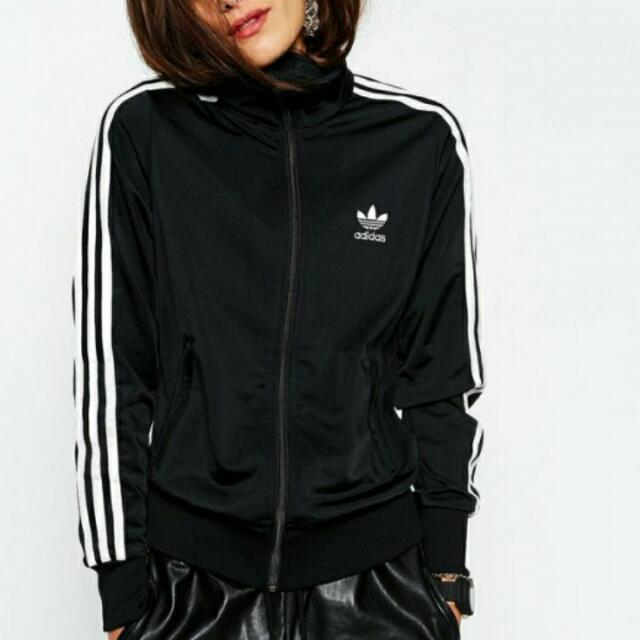 (保留)Adidas 立領運動 外套 黑 不換物