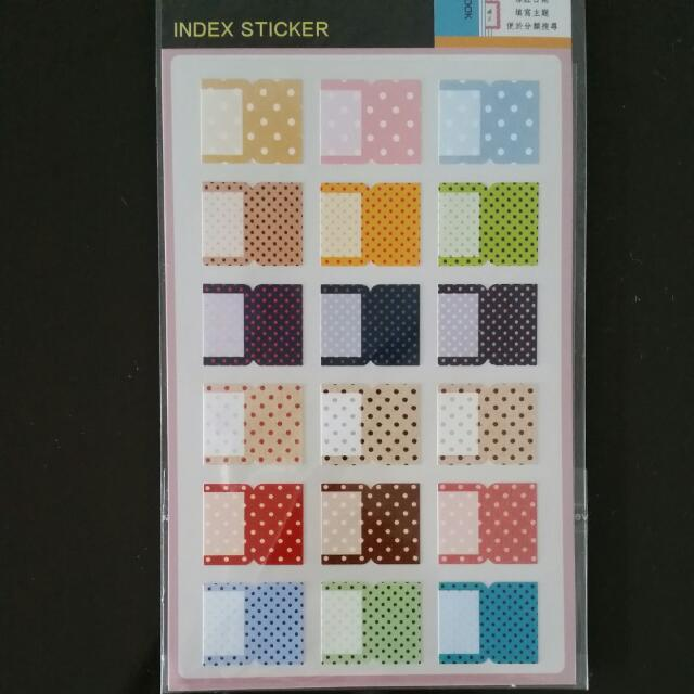 flash sale index tab stickers women s fashion on carousell