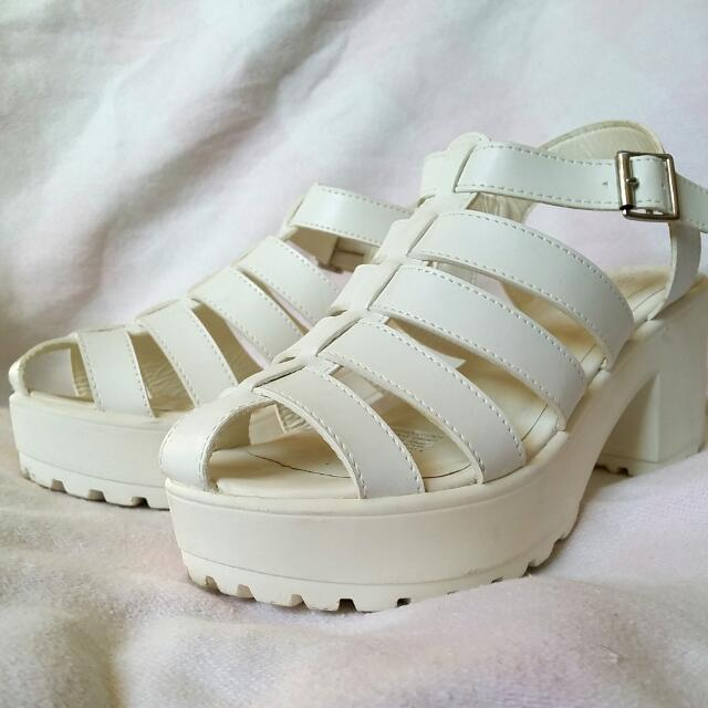 New Look Rockyn White Sandals