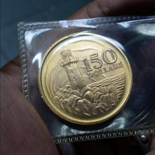 Singapore Vintage Gold Coin
